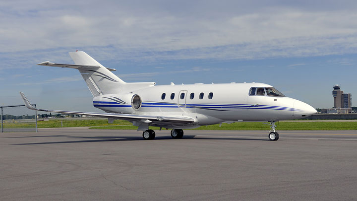 Hawker 850XP Jet Exterior