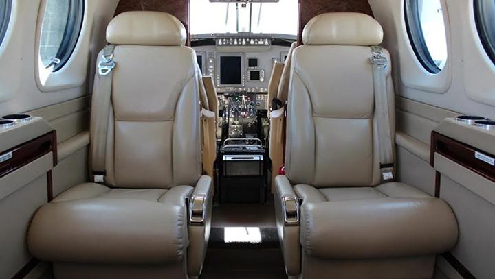 King Air 90 Jet Interior