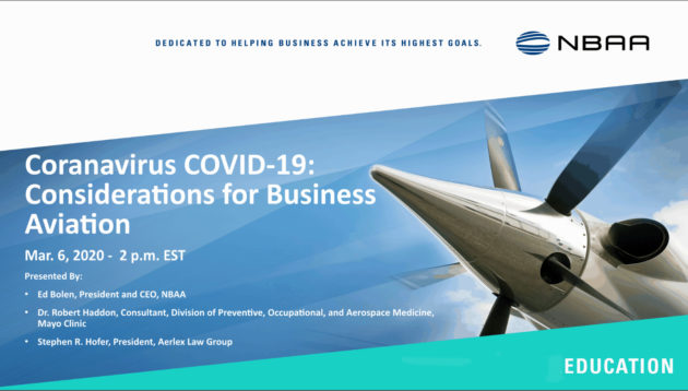 JetOptions team attends NBAA COVID 19 seminar