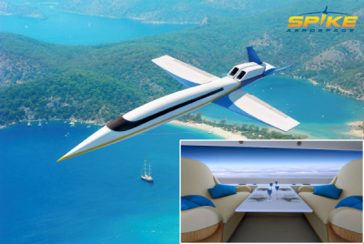 Spike reveals windowless cabin for supersonic jet